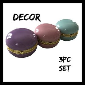 *Macaroon 3Pc Jewelry Box Set NWT